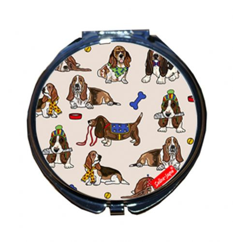 Selina-Jayne Basset Hound Limited Edition Designer Compact Mirror